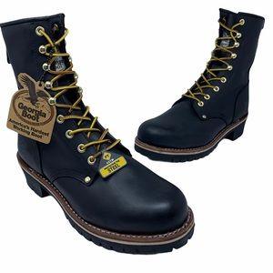 "Georgia 8"" Steel Protective Toe Logger Work Boots"